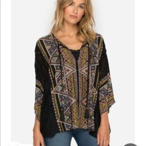 Johnny Was Beaded Color Gables Aztec Poncho Top